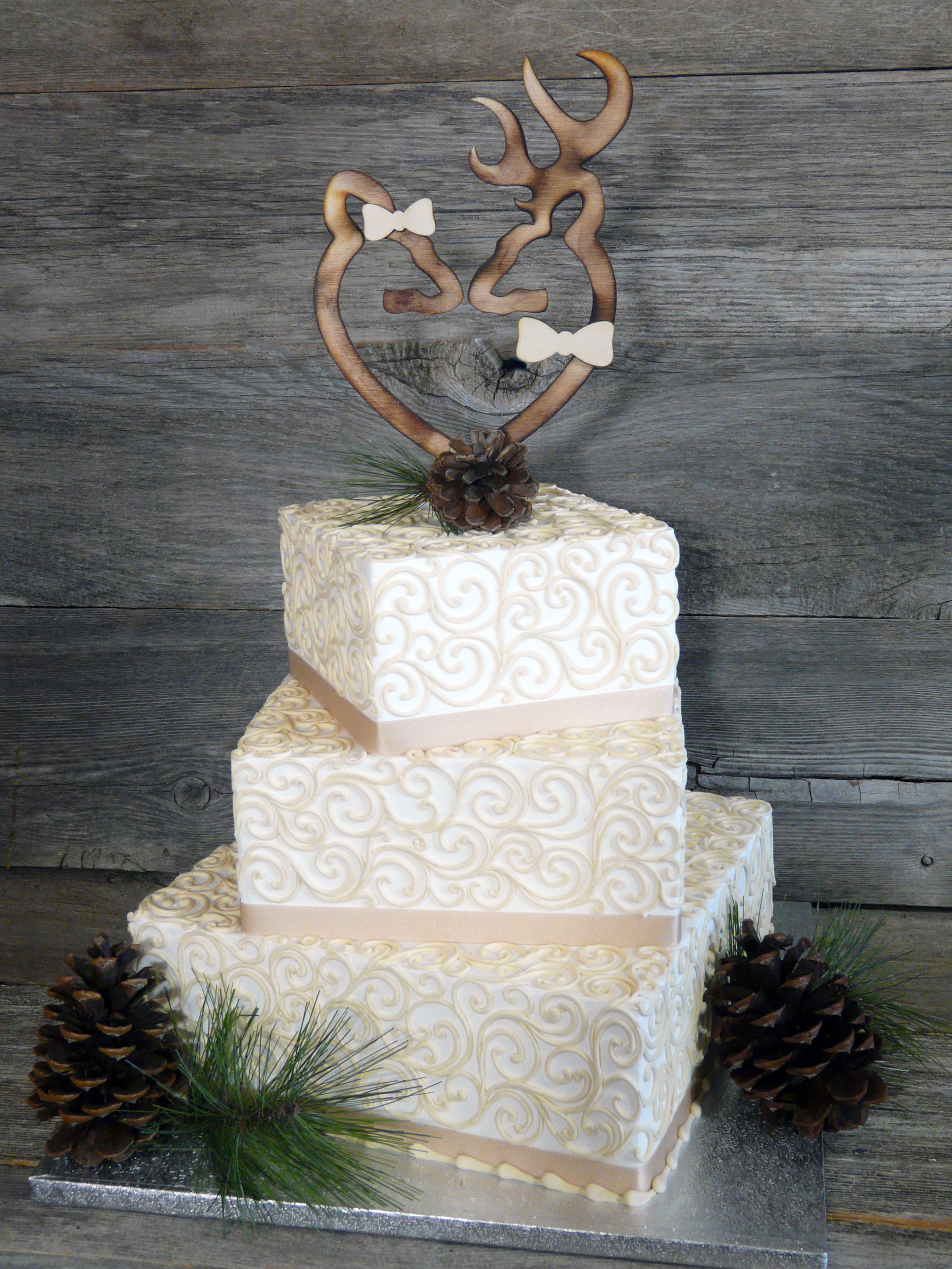 Oh Deer Wedding Cake Topper