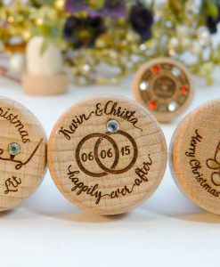 BLING RHINESTONE CRYSTAL Personalized Wine Stopper Designs