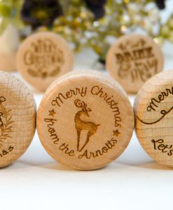 Christmas & Holiday Personalized Wine Stoppers