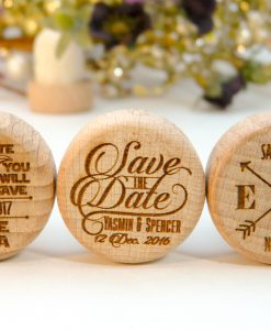save the date personalized wine stoppers