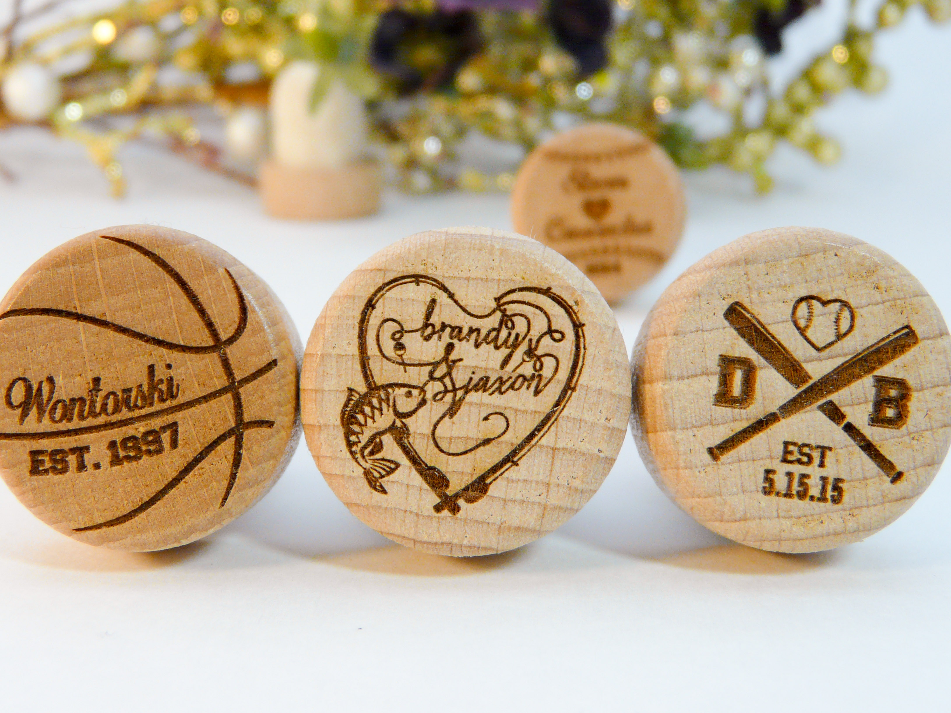 Sports Personalized Wine Stopper Designs