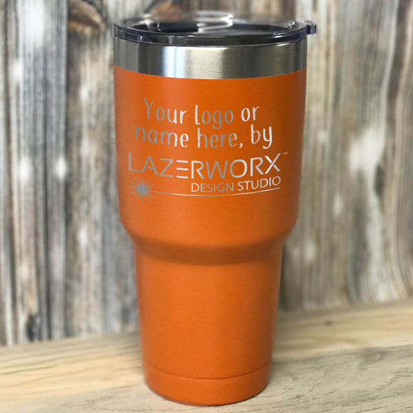 30-oz-orange-stainless-steel-tumbler-laser-engraved-personalized-logo-lazerworx