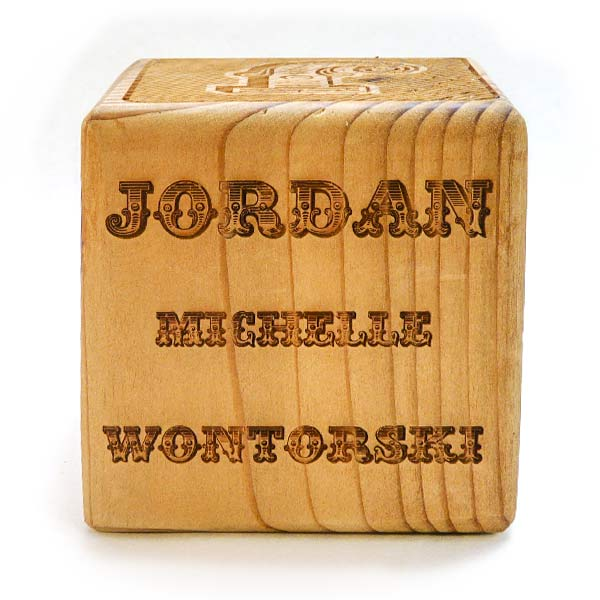 Personalized wooden blocks are a unique baby gift idea lazerworx personalized wooden blocks unique baby gifts negle Image collections