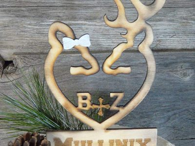 rustic-wood-browning-deer-personalized-wedding-cake-topper