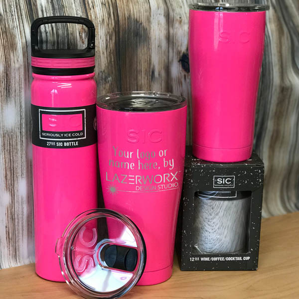 SIC-Cups-12-20-27-30-oz-hot-pink-stainless-steel-tumbler-bottle-laser-engraved-personalized-logo-lazerworx