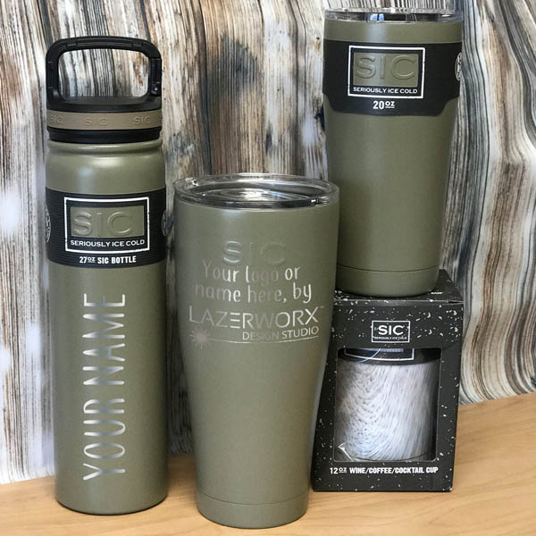 Laser Engraved Stainless Steel Logo Sic Cups Tumblers