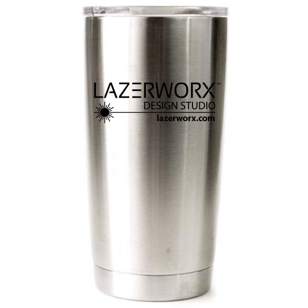 Laser engraved Yeti, RTIC, or Ozark Stainless Steel Tumbler with Company Logo, 20 oz