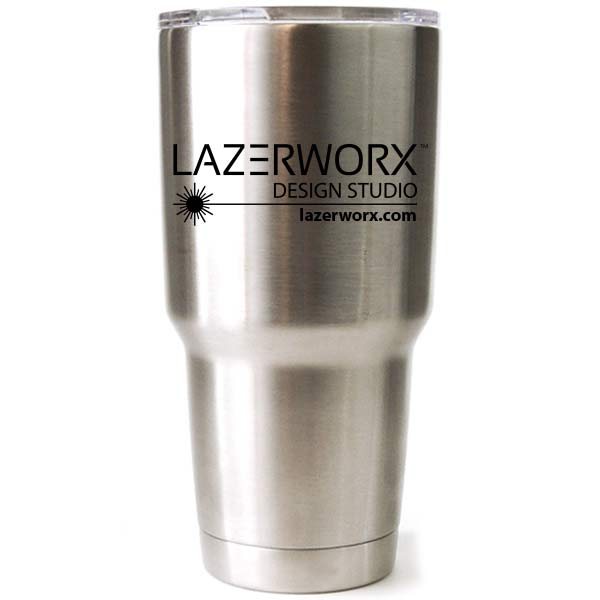 Engraved Yeti, RTIC, or Ozark Stainless Steel Tumbler with Company Logo, 30 oz