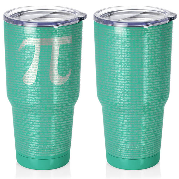turquoise-30-oz-stainless-steel-SWIG-insulated-tumbler-laser-engraved-math-geek-science-teacher-pi-10000-digits