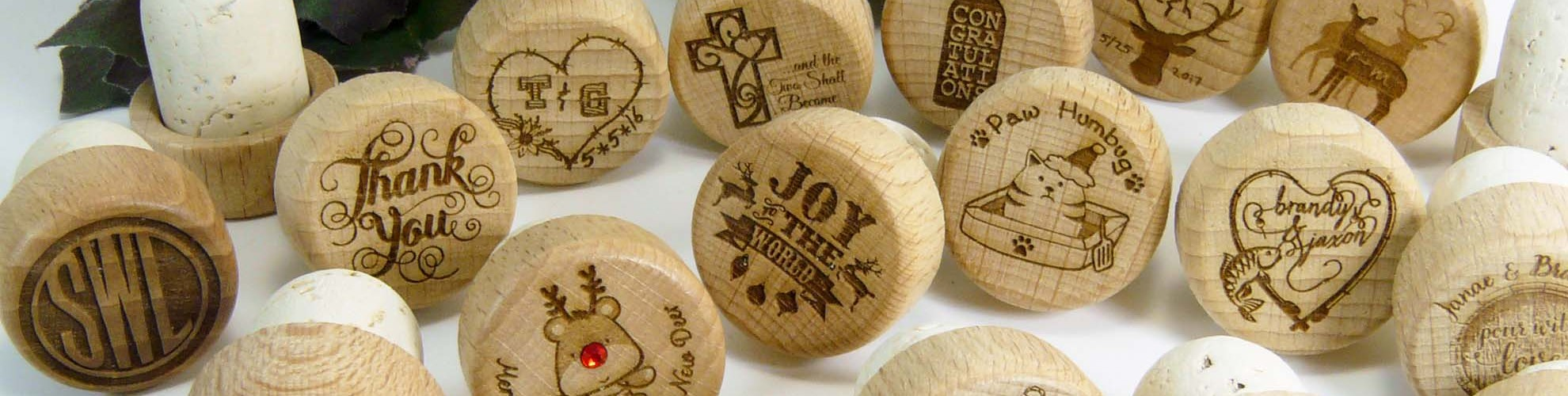 personalized laser engraved wine stoppers