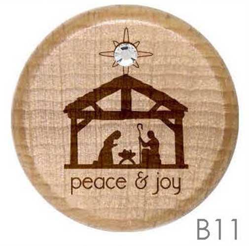 B11 - Christmas Nativity Rhinestone Crystal Personalized Wine Stopper