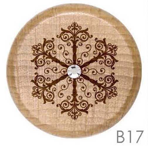 B17 - Snowflake Rhinestone Crystal Personalized Wine Stopper