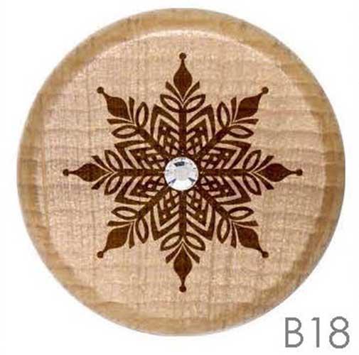 B18 - Snowflake Rhinestone Crystal Personalized Wine Stopper
