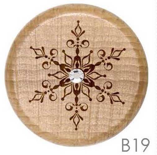 B19 -Snowflake Rhinestone Crystal Personalized Wine Stopper