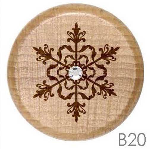 B20 - Snowflake Rhinestone Crystal Personalized Wine Stopper