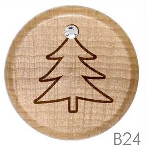 B24 - Elegant Christmas Tree Rhinestone Crystal Personalized Wine Stopper