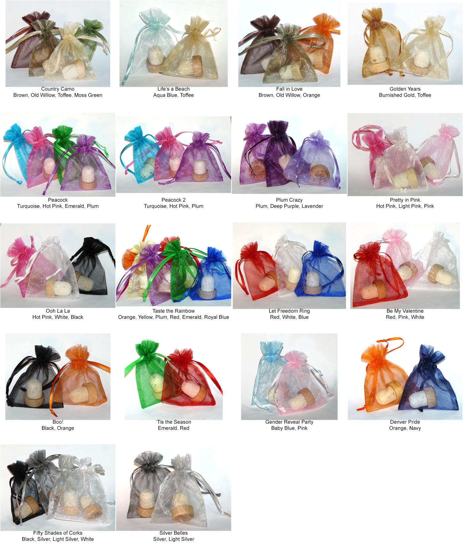 3x4 Organza Gift Bags