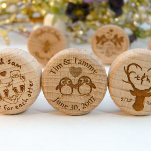 Dog, cat, deer, penguin, love bird personalized wine stoppers