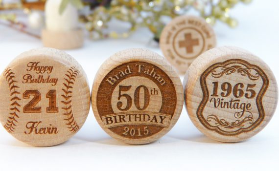 Happy Birthday Party Favor Personalized Wine Stoppers