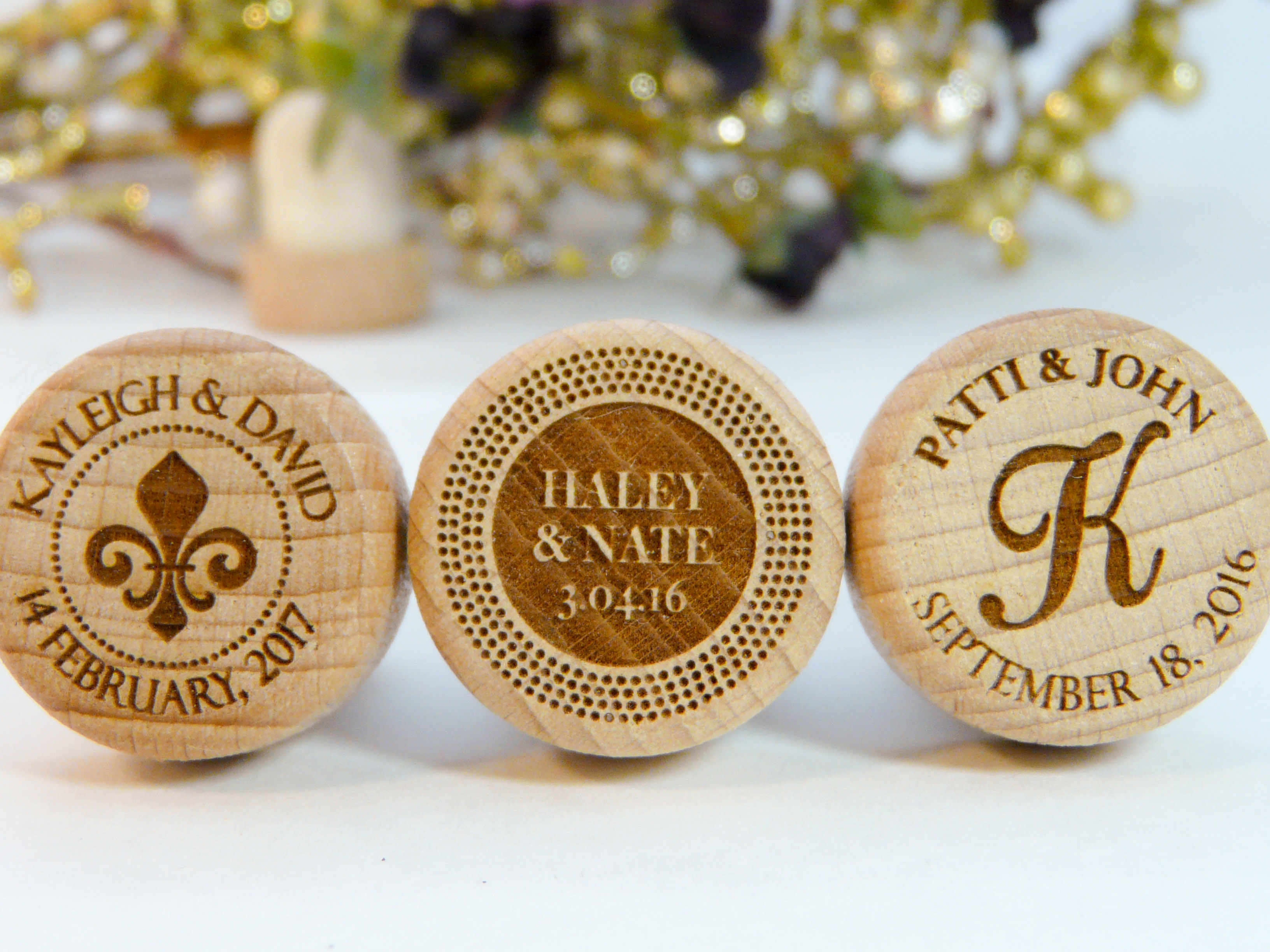 name monogram personalized wine stoppers