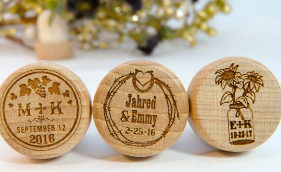 35 WINERY RUSTIC Personalized Wine Stopper Designs