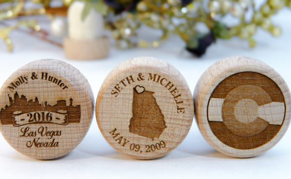 State Silhouette Personalized Wine Stopper Wedding Favors