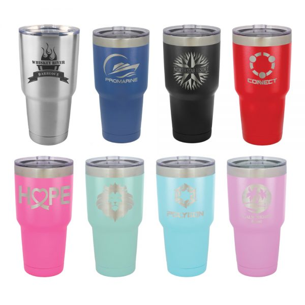 30-oz-powder-coated-custom-stainless-steel-insulated-tumbler-glass-mug-lid-laser-engraved-logo-etched