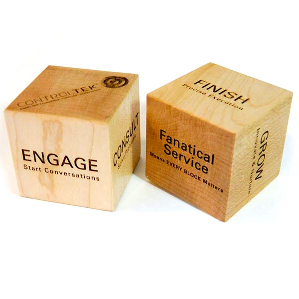 Personalized Blocks - Business Building Blocks with Engraved Logo