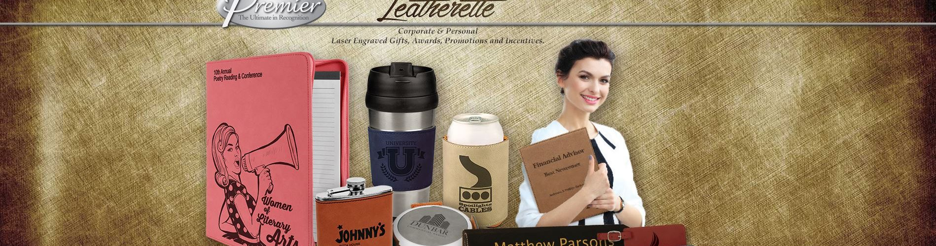 Laser Engraved Leather Keychains, mugs, portfolios, bible covers, frames, can coolers Wichita KS