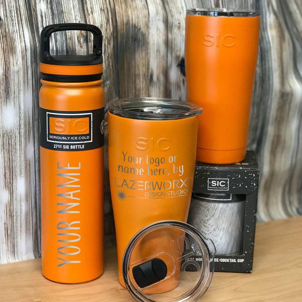 SIC-Cups-12-20-27-30-oz-orange-stainless-steel-tumbler-bottle-laser-engraved-personalized-logo-lazerworx
