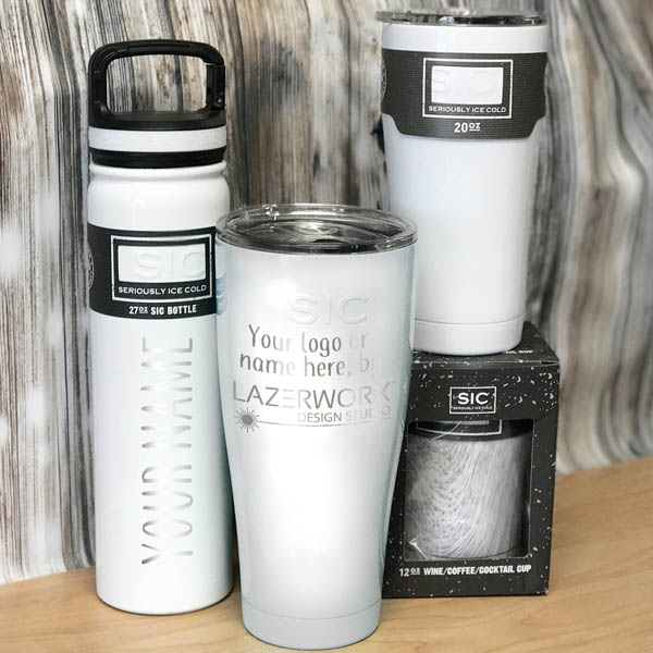 SIC-Cups-12-20-27-30-oz-white-stainless-steel-tumbler-bottle-laser-engraved-personalized-logo-lazerworx