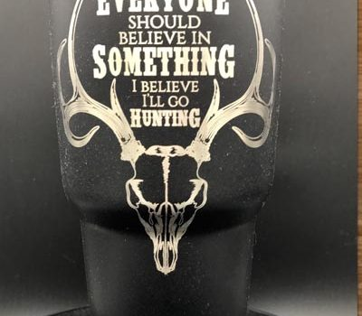 Deer Hunting Personalized Stainless Steel Tumbler