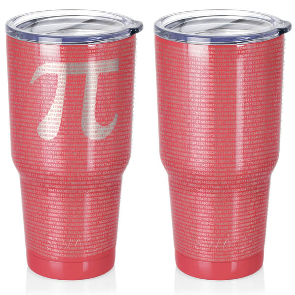 coral-30-oz-stainless-steel-SWIG-insulated-tumbler-laser-engraved-math-geek-science-teacher-pi-10000-digits