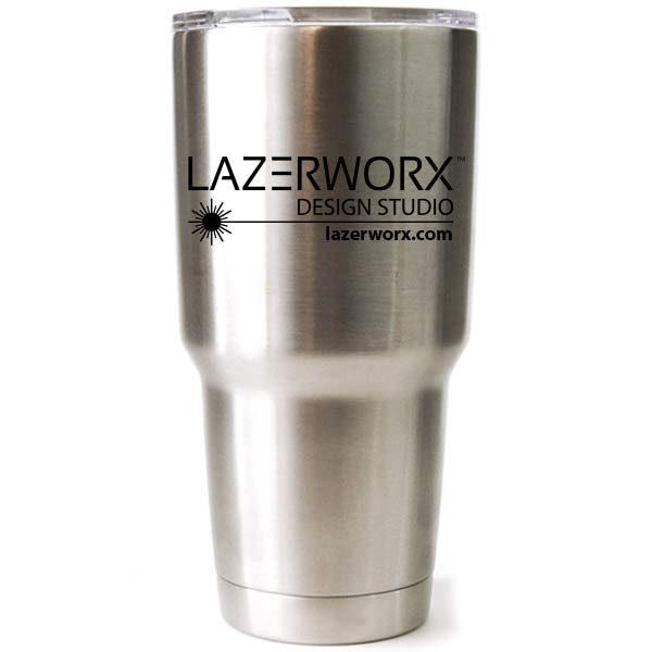 Custom Logo Laser Engraved Yeti or Ozark Trail 20 oz or 30 Oz Stainless  Steel Tumbler
