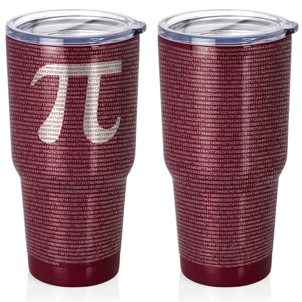 maroon-30-oz-stainless-steel-SWIG-insulated-tumbler-laser-engraved-math-geek-science-teacher-pi-10000-digits
