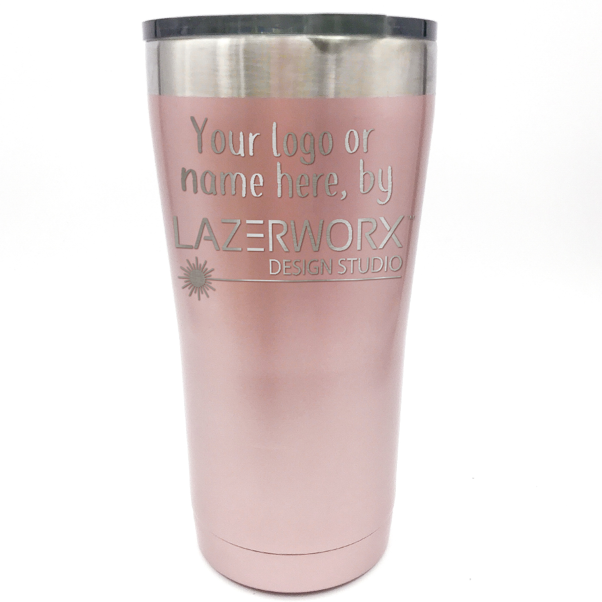 ozark-trail-20-oz-rose-gold-stainless-steel-tumbler-laser-engraved-personalized-logo